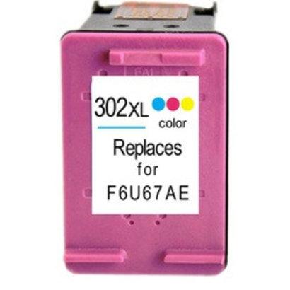 Hewlett Packard HP 302XL (F6U65AE) inktcartridge kleur   (Huismerk)