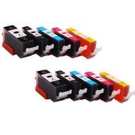 Canon inktpatronen CLI-526 / PGI-525   voordeelsets  |  met chip (Huismerk)