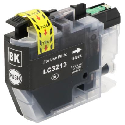 Brother inktpatroon LC-3213 zwart (Huismerk)