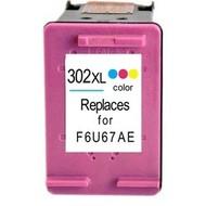HP 302XL (F6U65AE) inktcartridge kleur   (Huismerk)