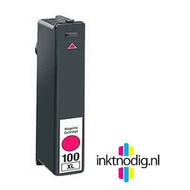 Lexmark inktpatroon 100XL magenta (Huismerk)