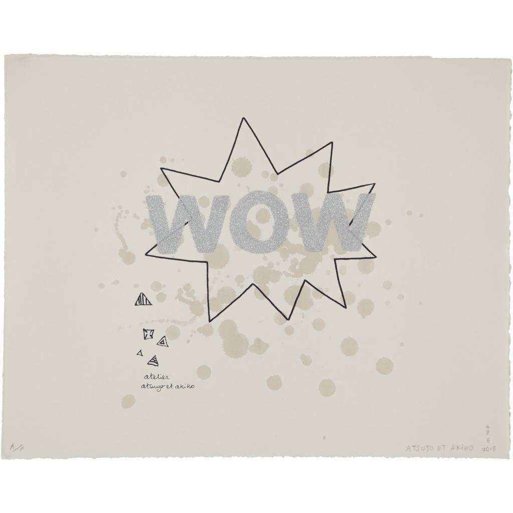 ATSUYO ET AKIKO wow wall art silver glitter 100% cotton, bfk rives paper