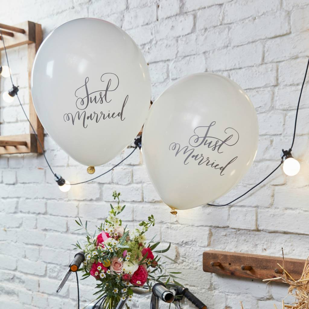 GINGERRAY Balloons - Just Married
