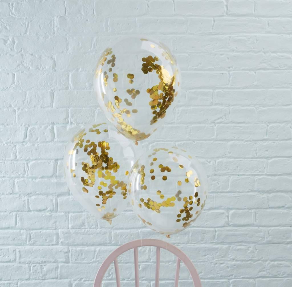 GINGERRAY Balloons - Confetti - Gold