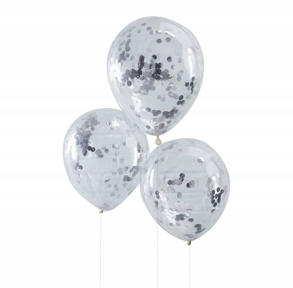 GINGERRAY Balloons - Confetti - Silver