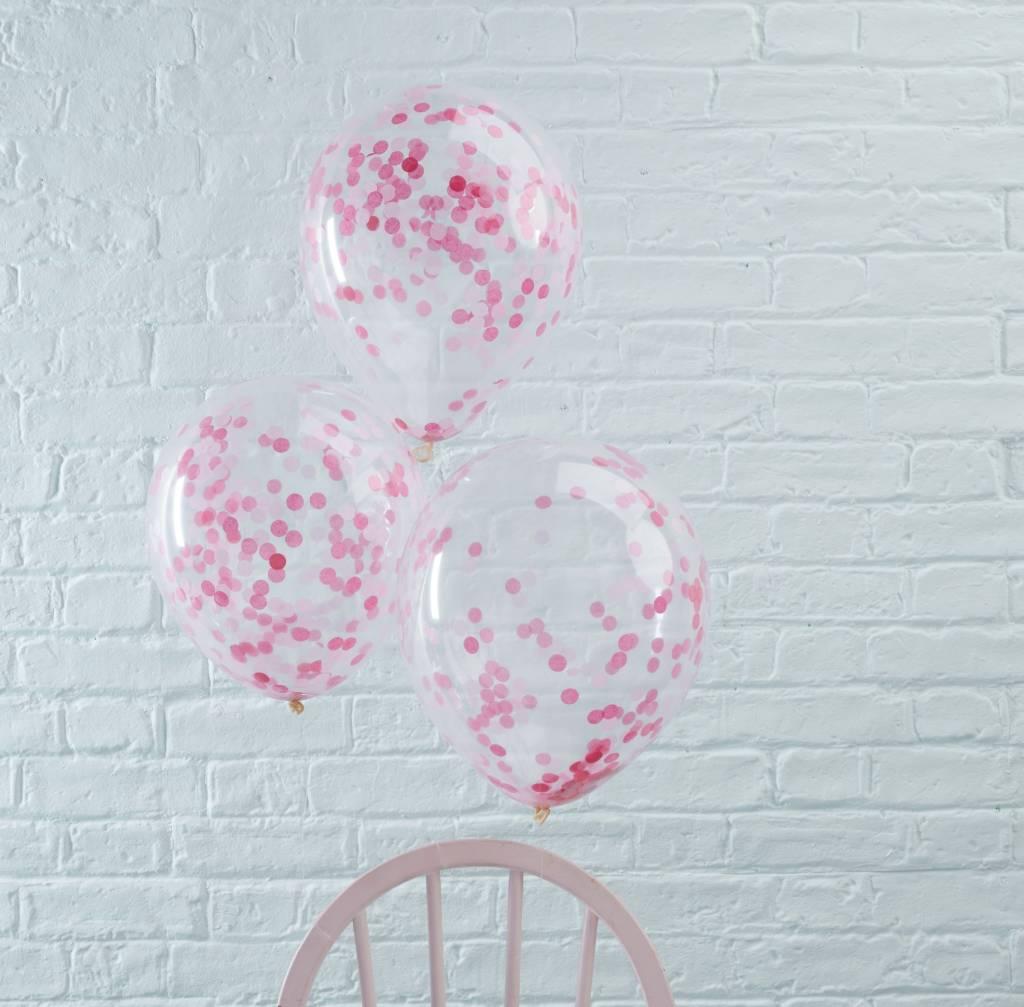 GINGERRAY Balloons - Confetti - Pink