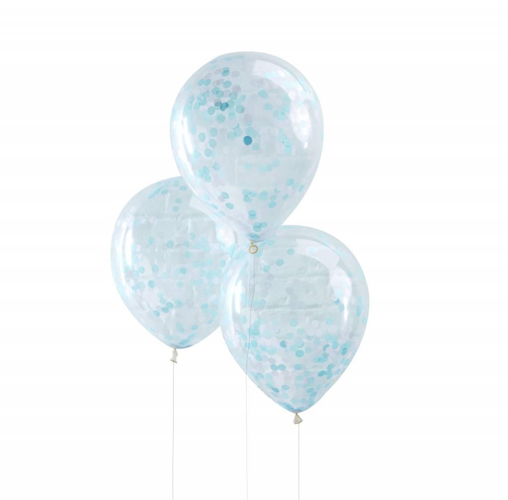 GINGERRAY Balloons - Confetti - Blue