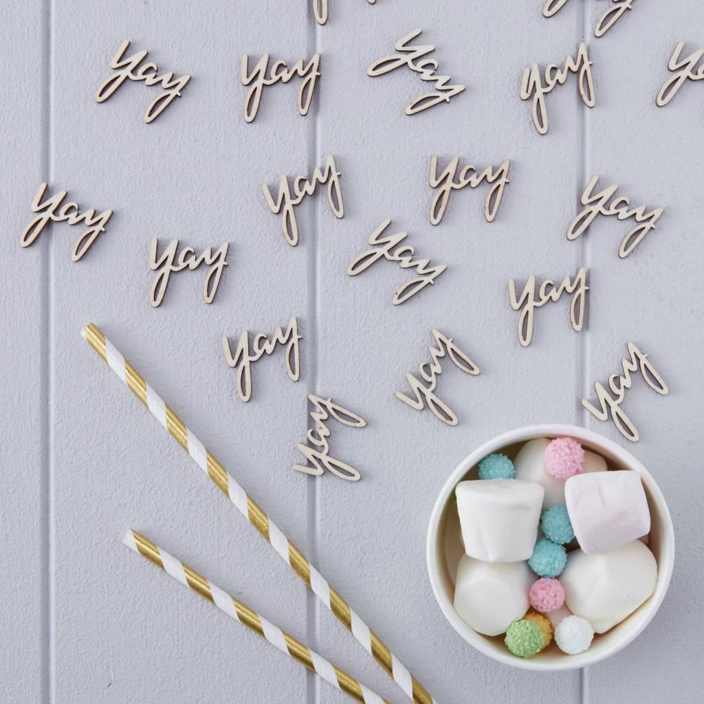 GINGERRAY Confetti - Wooden - Yay