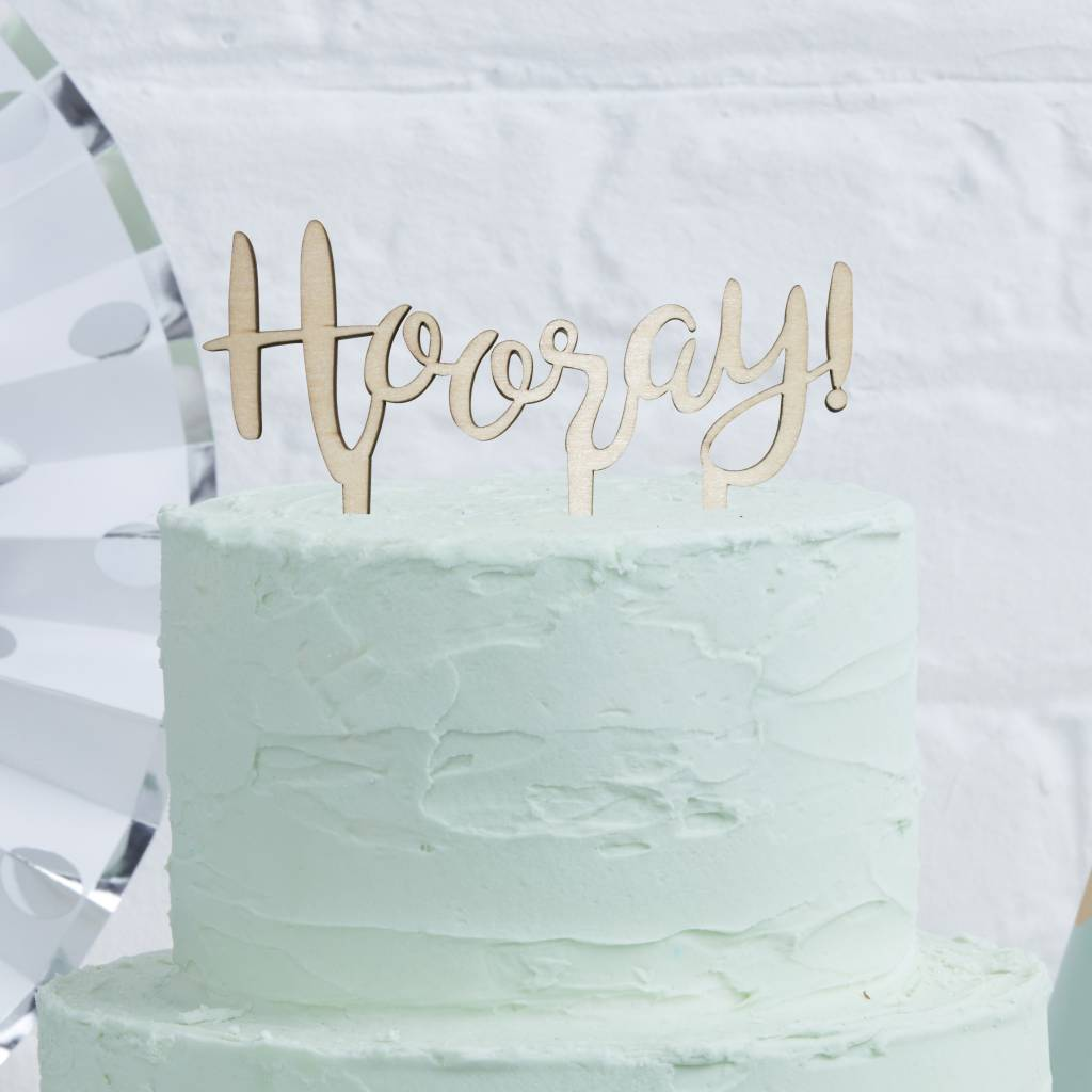 GINGERRAY Cake Topper - Wooden - Hooray