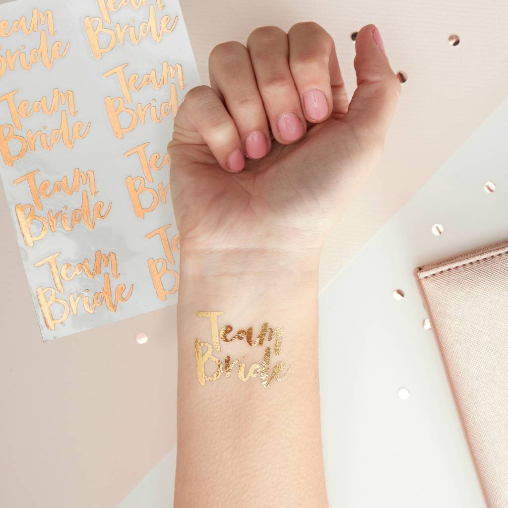 GINGERRAY Team Bride - Tattoos - Rose Gold