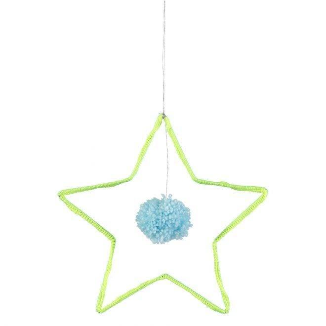 MERIMERI Wire and wool star decoration