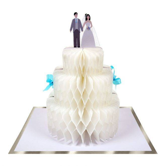 MERIMERI Wedding cake honeycomb card