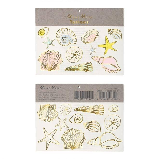 MERIMERI Seashells tattoos
