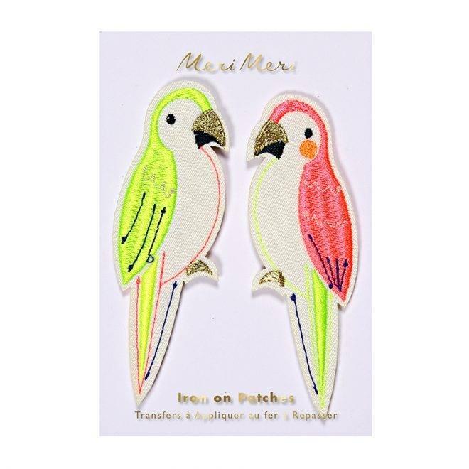 MERIMERI Parrots patches