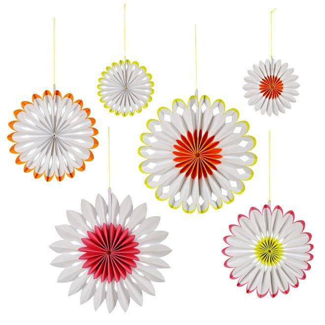 MERIMERI Neon pinwheel decorations