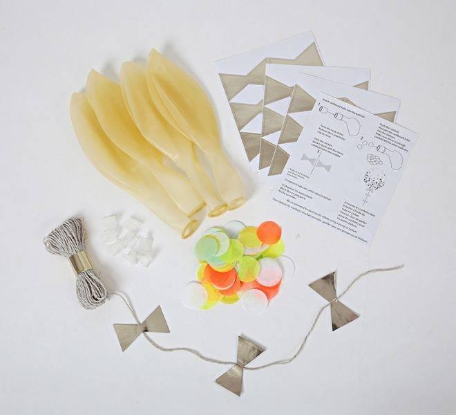 MERIMERI Neon confetti balloon kit