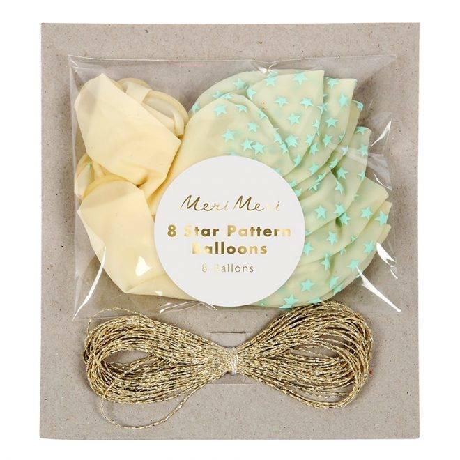 MERIMERI Mint star balloons