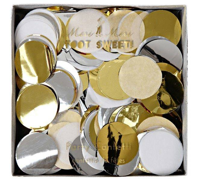 MERIMERI Metallic party confetti
