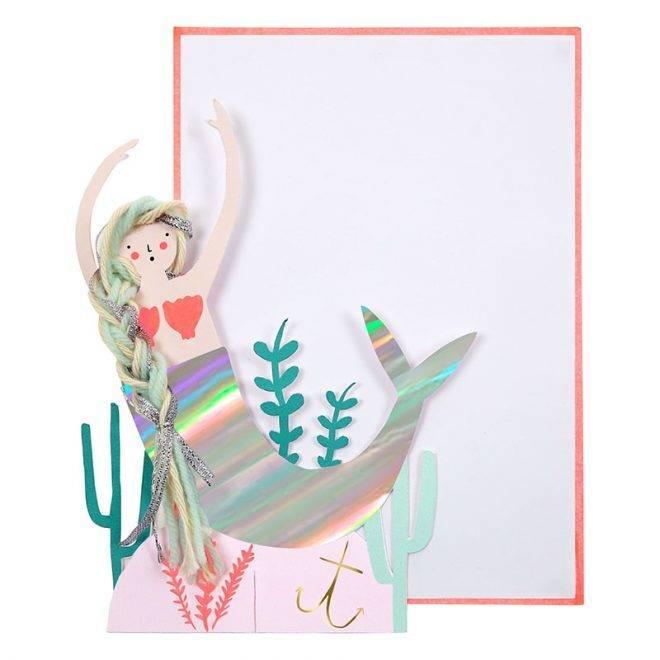 MERIMERI Mermaid scene card