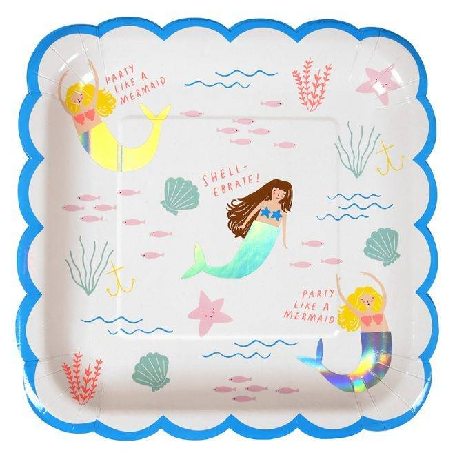 MERIMERI Mermaid plates