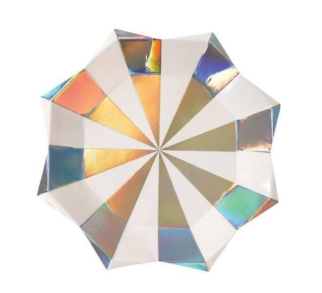 MERIMERI Holographic star small plates
