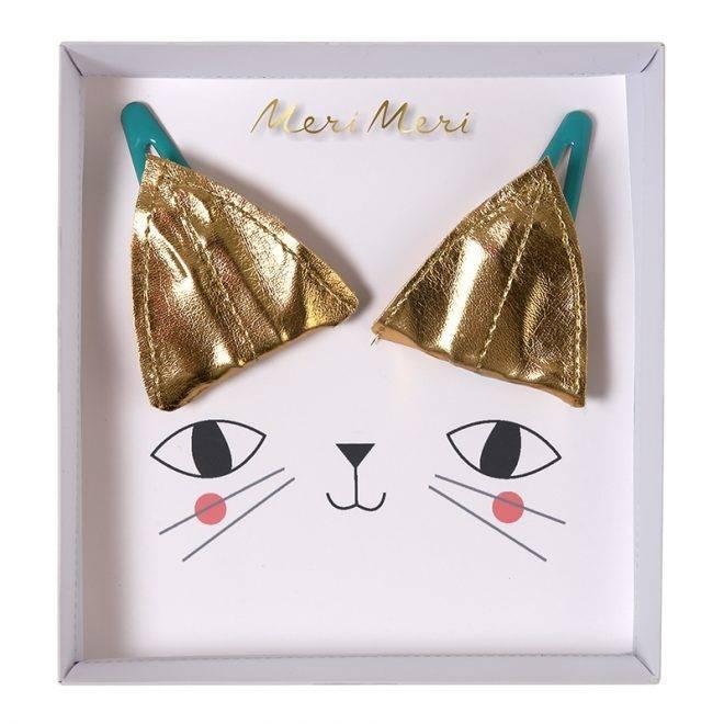 MERIMERI Cat ear hair clips gold
