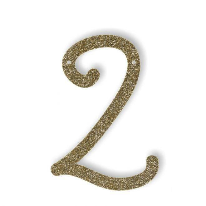 MERIMERI Gold glitter acrylic bunting 2