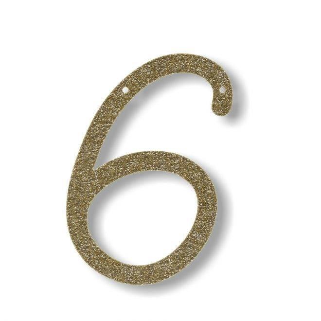 MERIMERI Gold glitter acrylic bunting 6
