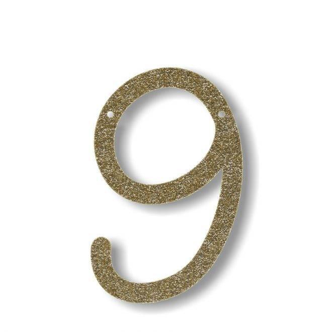 MERIMERI Gold glitter acrylic bunting 9