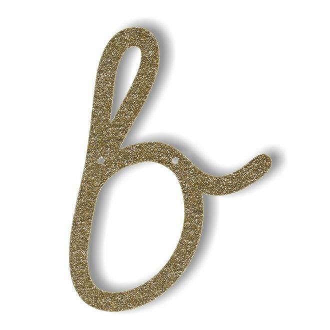 MERIMERI Gold glitter acrylic bunting B
