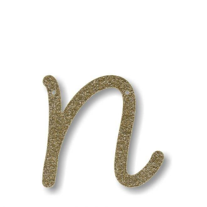 MERIMERI Gold glitter acrylic bunting N