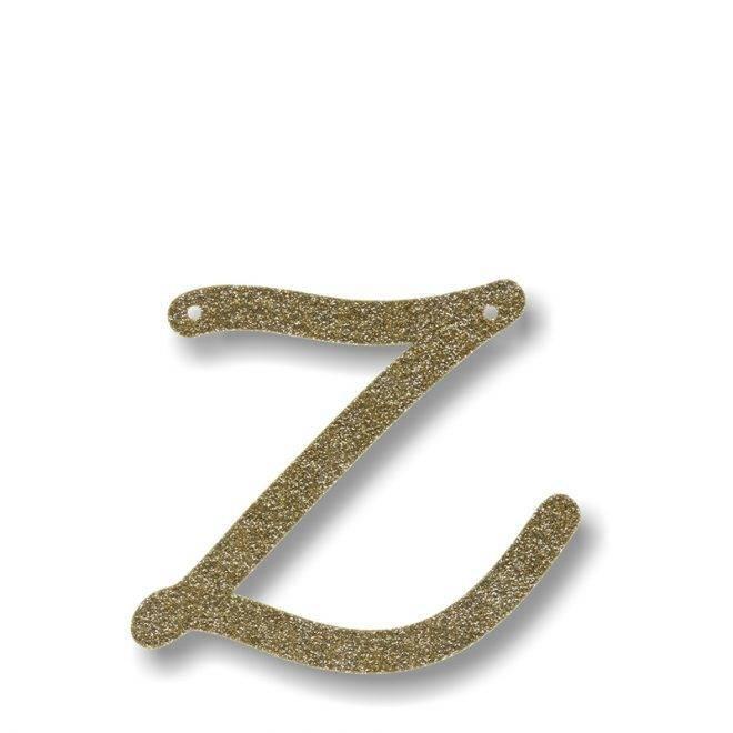 MERIMERI Gold glitter acrylic bunting Z