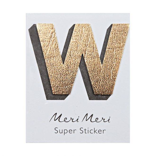 MERIMERI Leather sticker W