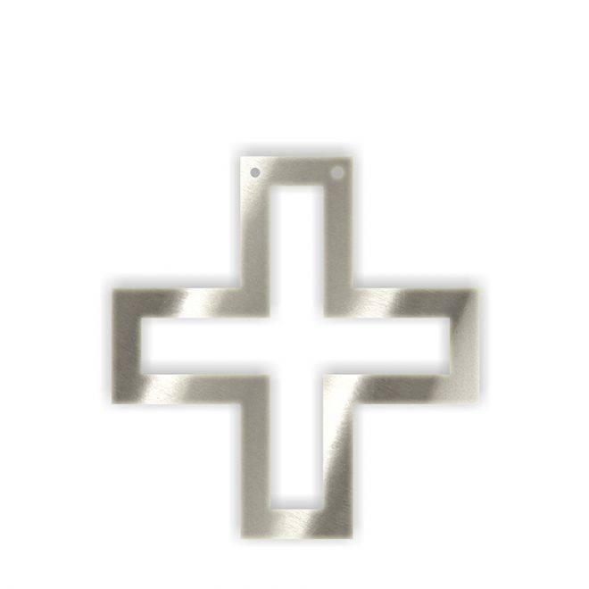 MERIMERI Silver acrylic bunting +