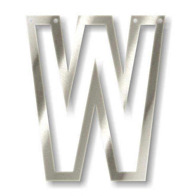 MERIMERI Silver acrylic bunting W