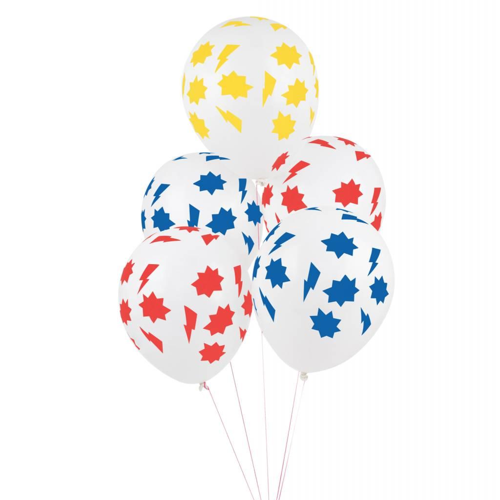 MY LITTLE DAY 5 superhero balloons