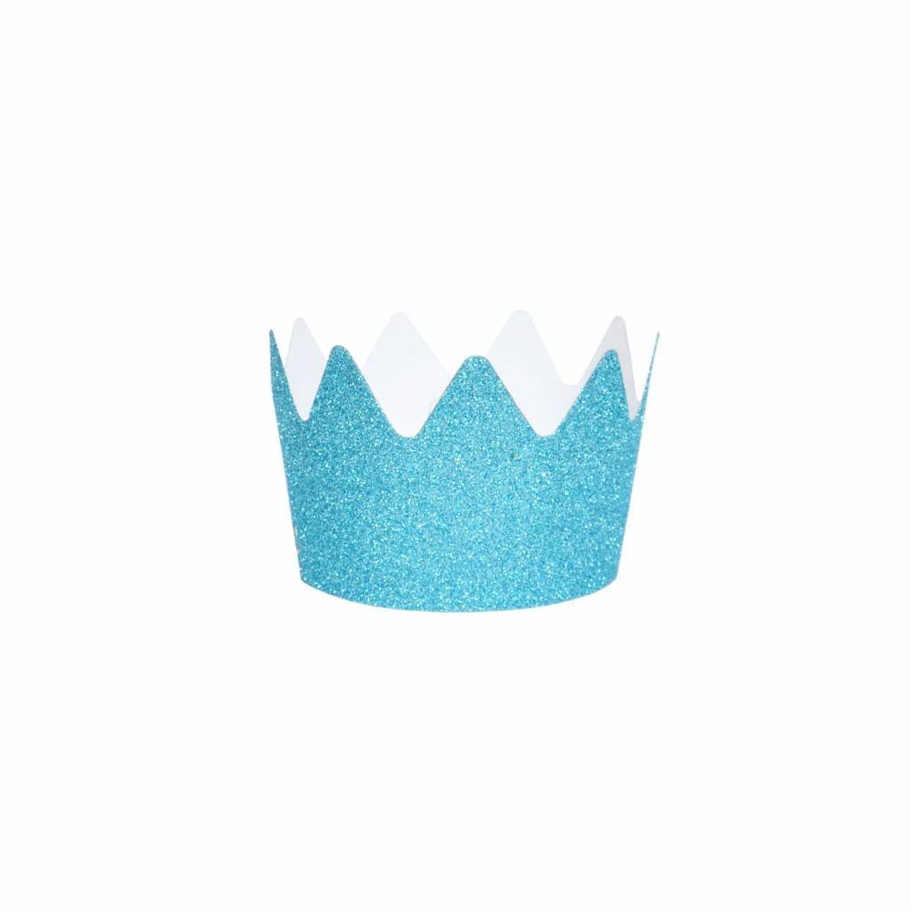 MY LITTLE DAY 8 blue glitter party crowns