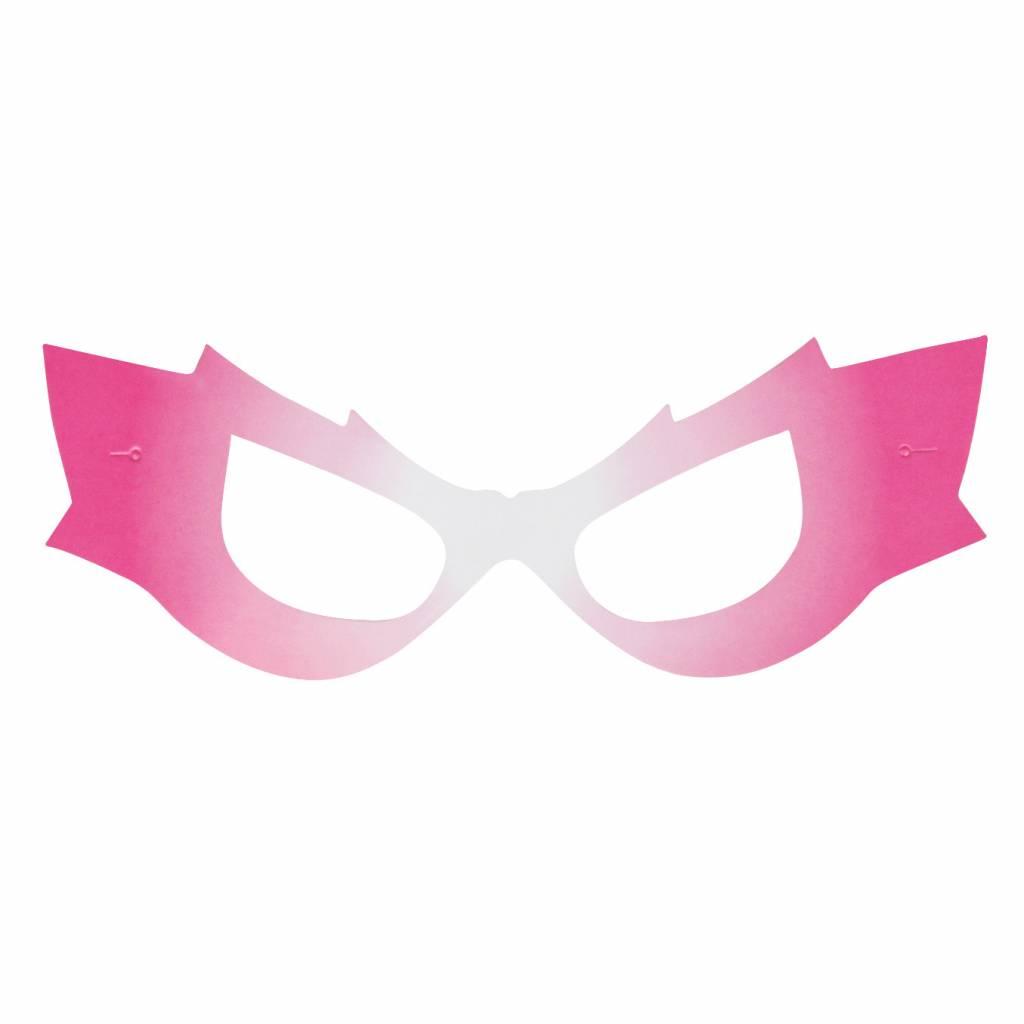 MY LITTLE DAY 8 pink superhero masks