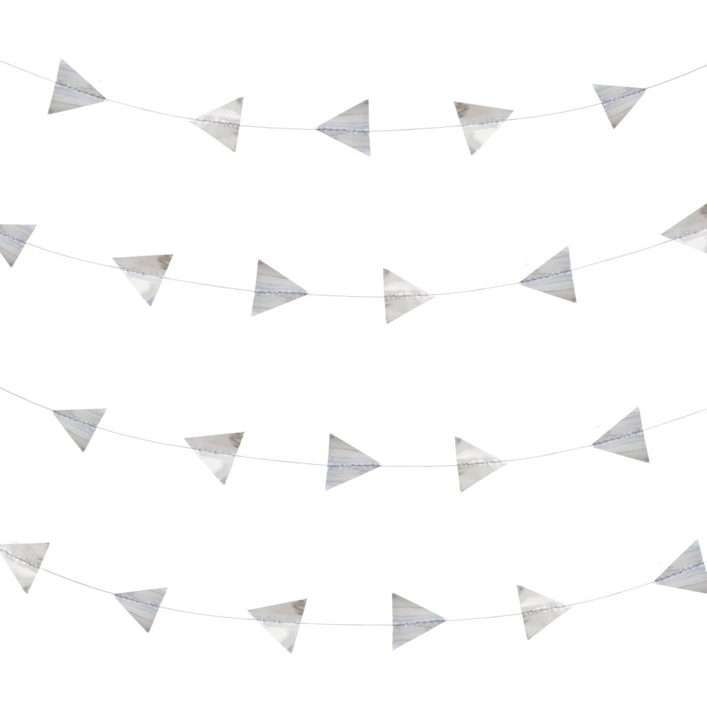 MY LITTLE DAY silver triangle garland