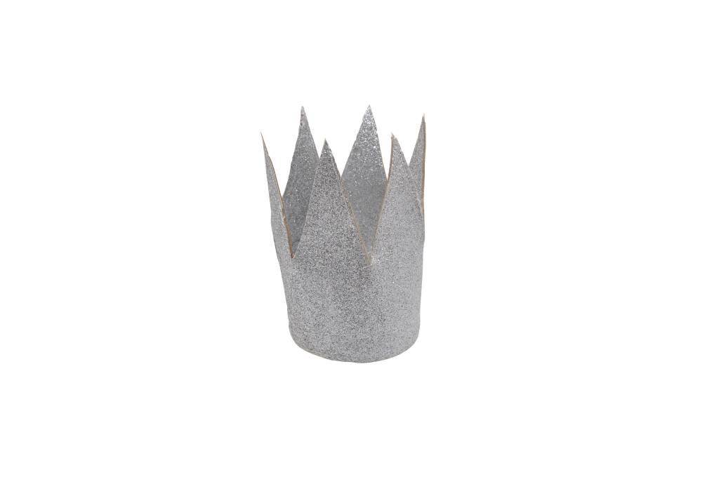 MOUCHE silver mini crown glitter