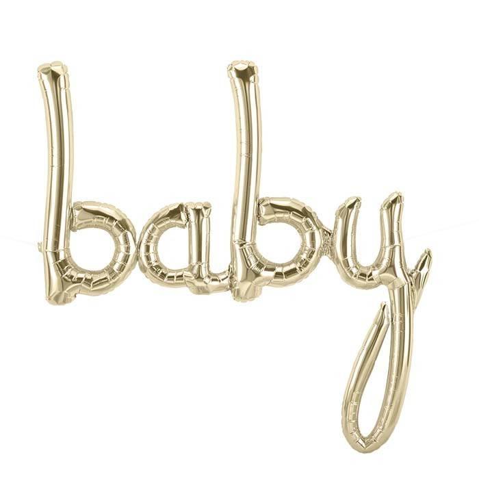 SMP baby script white gold foil balloon 86 cm