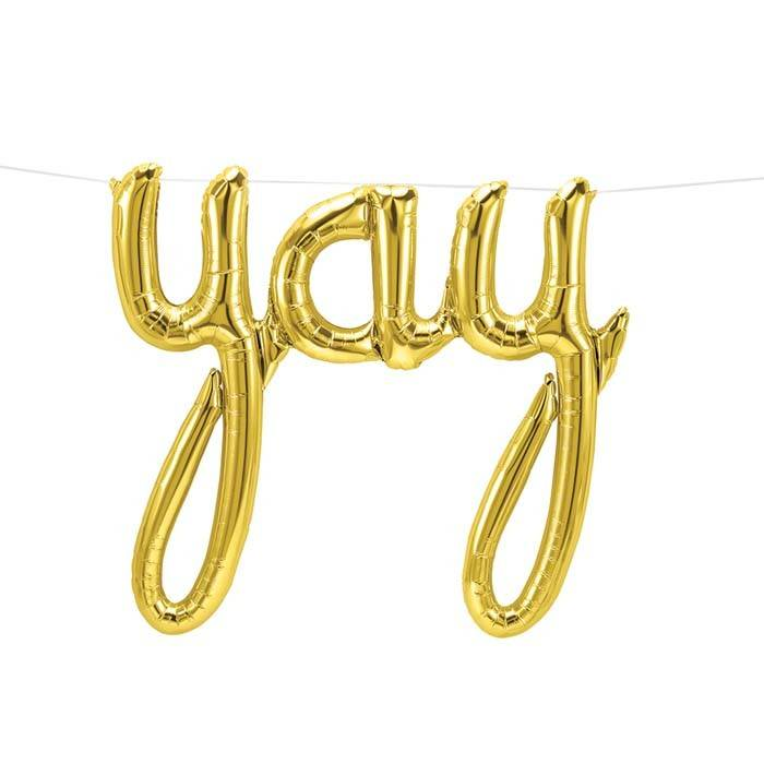 SMP yay script gold foil balloon 114 cm