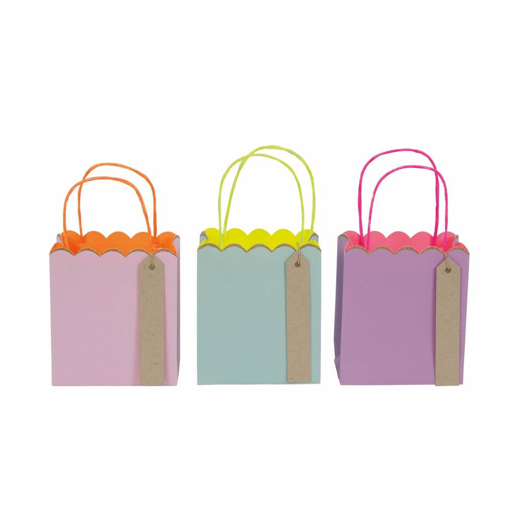 MERIMERI Toot sweet pastel and neon small gift bags