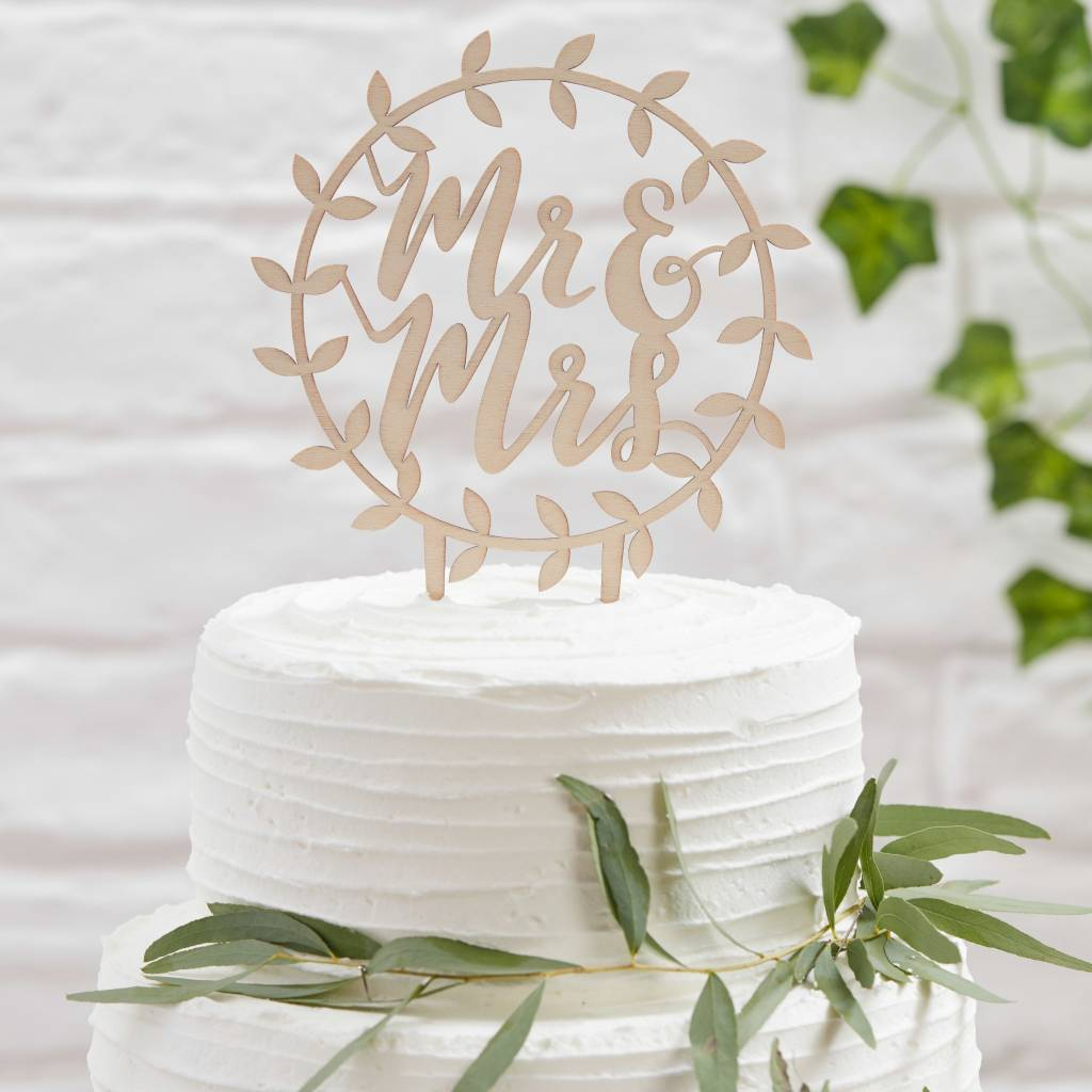 GINGERRAY Cake Topper - Wooden - Vine