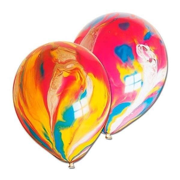 ABC 5 marble balloons rainbow