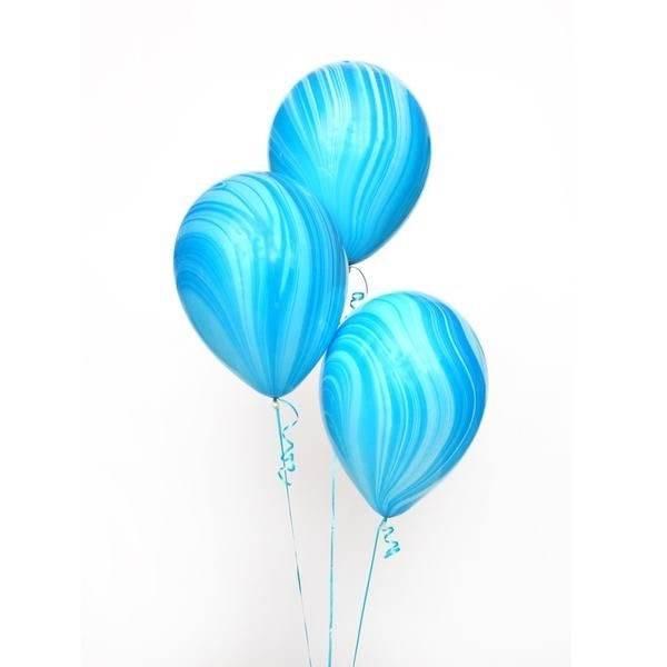 ABC 5 marble balloons blue