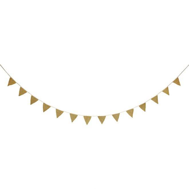 MERIMERI gold knitted garland