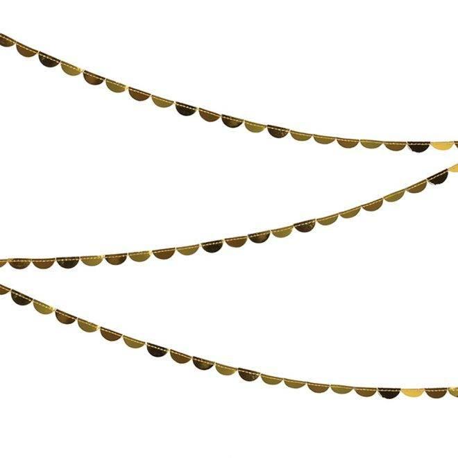 MERIMERI gold scallop garland spool