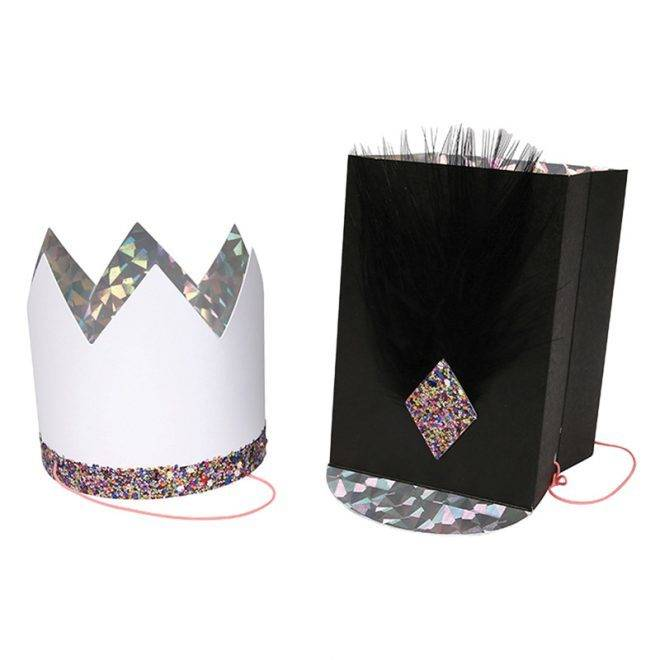 MERIMERI glitter and feather hats