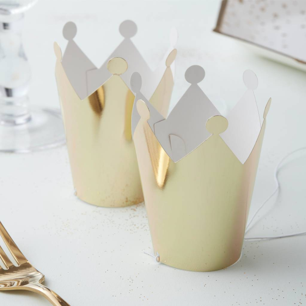 GINGERRAY mini party crowns gold